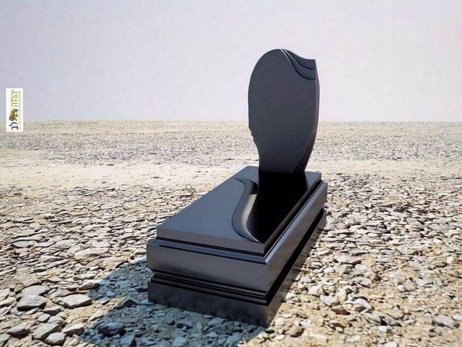 עיצוב ייחודי של מצבת גרניט שחורה