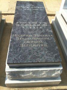 מצבת שיש טורקי בצבע אפור ושחור