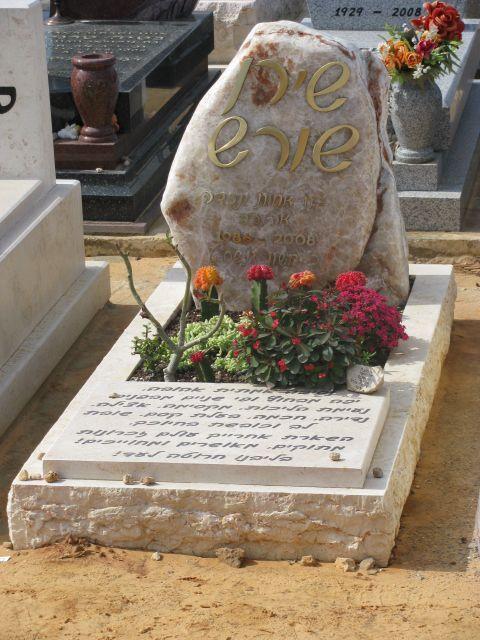 מצבות סלעים בשילוב אסן חברון ושיש גרניט עם מקום לשתילת פרחים