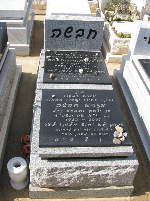 מצבה בקרית שאול בשילוב אבן אפור ושחור לאחר שיפוץ